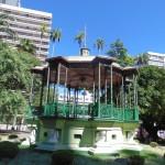 Coreto da praça Carlos Gomes, espaço de festa e encontro no centro (Foto José Pedro Martins)