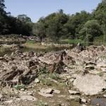 Rio Atibaia, em Campinas, um dos mais atingidos pela crise hídrica de 2014 (Foto Adriano Rosa)