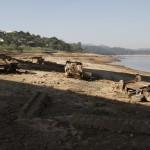 Reservatório de Atibainha, com o que resta de água no Sistema Cantareira: sem chuva haverá muito drama. (Fotos Adriano Rosa)