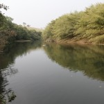 Rio Jaguari, nas proximidades do local para onde está projetada uma das barragens em discussão para bacia do rio Piracicaba (Foto Adriano Rosa)