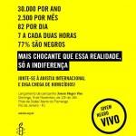 Peça da campanha Jovem Negro Vivo, da Anistia Internacional