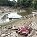 Em fevereiro o rio Atibaia ficou assim em Campinas: a crise hídrica é gravíssima (Foto Adriano Rosa)
