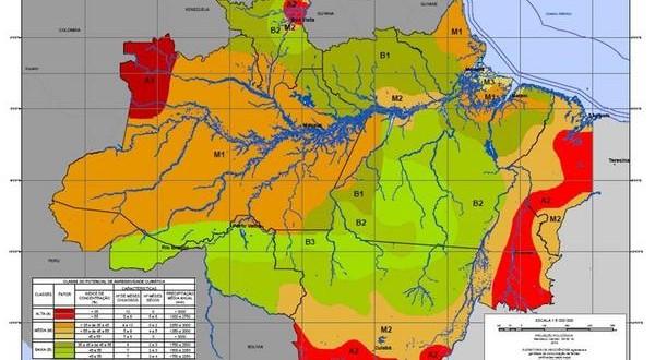 IBGE faz mapeamento da agressividade climática na Amazônia Legal