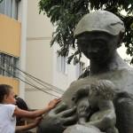 Estátua da Mãe Preta, no Dia Nacional da Consciência Negra em Campinas em 2014: referência para cultura afro na cidade (Foto José Pedro Martins)