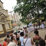 Roda de Jongo no Largo de São Benedito, espaço sagrado em Campinas: uma das referências para a comunidade e cultura negra na cidade (Foto José Pedro Martins)