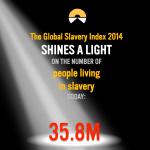 Peça de comunicação usada na divulgação do relatório de 2014 sobre a escravidão