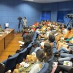 O Plenarinho da Câmara Municipal de Campinas ficou lotado no debate com a ex-ministra Matilde Ribeiro (Fotos José Pedro Martins)