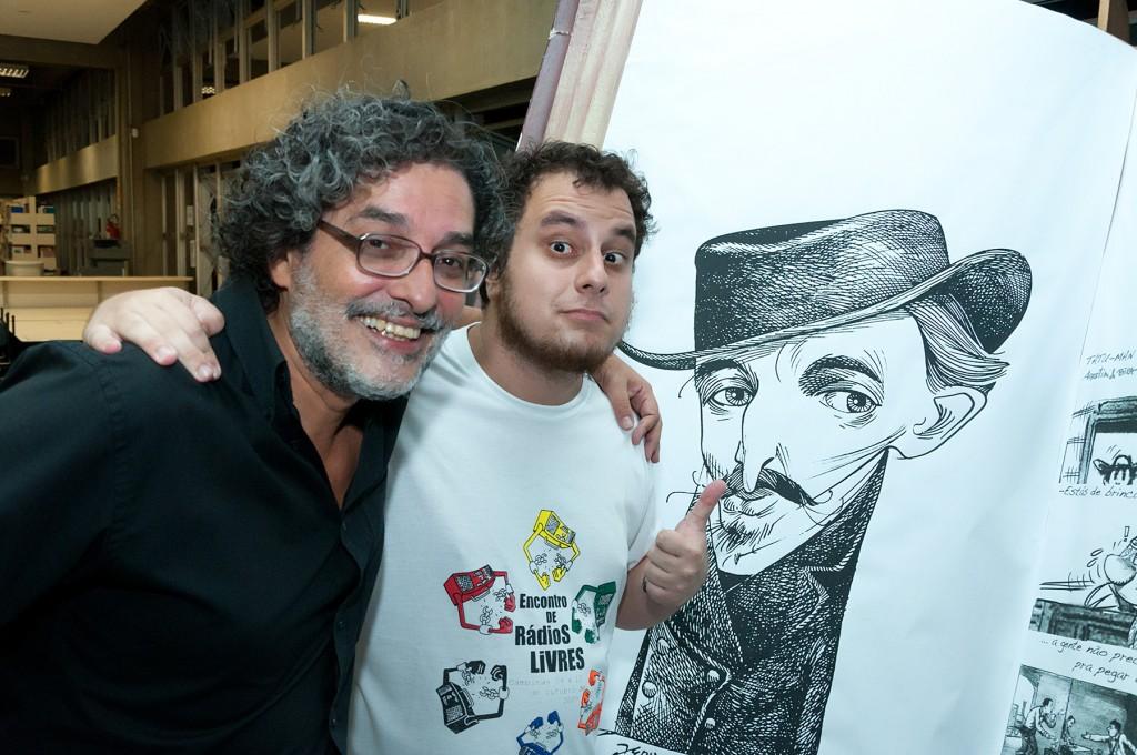 """Bira Dantas e Artie Oliveira, roteiristas e produtores de """"Desvendando Angelo Agostini"""""""