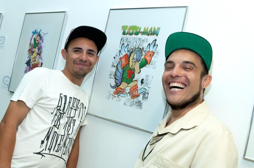 Os grafiteiros Osmir Mirs e Mirs Monstrengo, na releitura de Bira Dantas