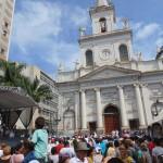 Lavagem das escadarias da Catedral de Campinas, desde 1985: pela liberdade religiosa (Foto José Pedro Martins)