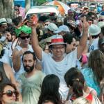 Desfile do Nem Sangue nem Areia em 2015, simbolizando o fortalecimento do Carnaval comunitário em Campinas (Foto Martinho Caires)