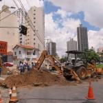 Trecho na Orosimbo Maia foi interrompido para início das obras na Glicério (Fotos José Pedro Martins)