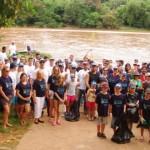 O grupo se voluntários se prepara para mais um Arrastão Ecológico pelo Rio Piracicaba (Foto Roncon & Graça Comunicações)