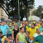 Manifestantes no ato deste domingo de manhã em Campinas (Fotos José Pedro Martins)