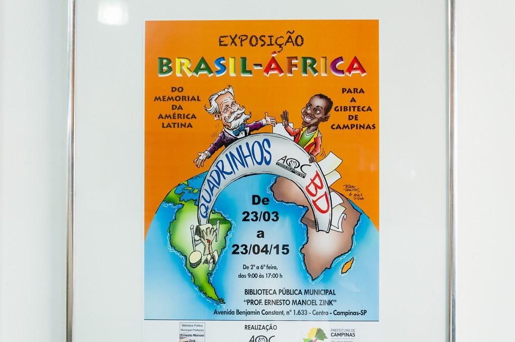 O cartaz da Exposição Brasil-África, na versão para Campinas