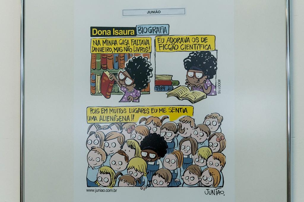 Trabalho de Junião, um dos brasileiros na exposição