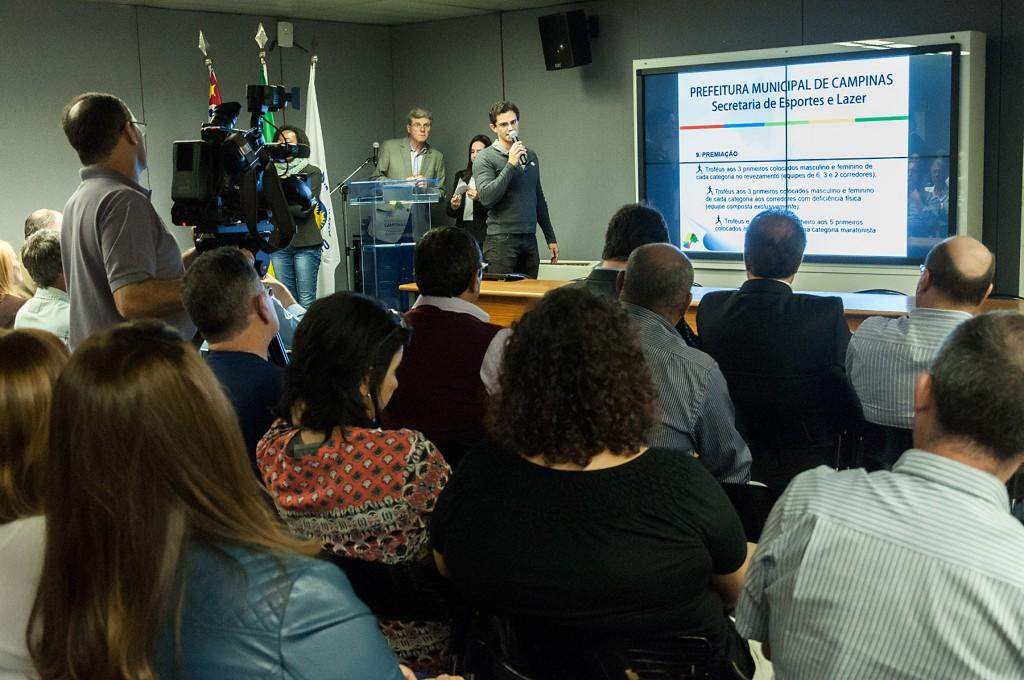 Público presente no lançamento da I Maratona de Campinas