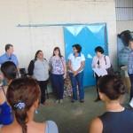 Inauguração da esteira, com a presença de representantes da Cooperativa e dos parceiros do projeto (Fotos José Pedro Martins)