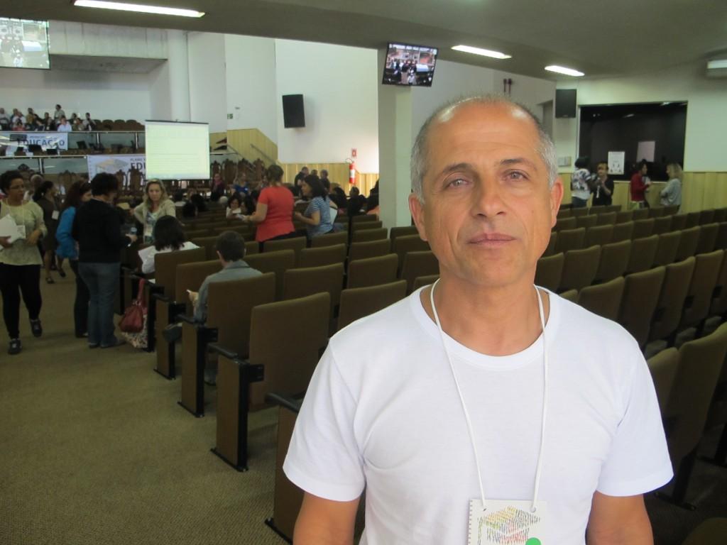 Antônio Sertório, coordenador do Fórum Permanente de Educação (Foto José Pedro Martins)