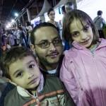Marco Della Porta e os filhos Antônio e Yasmim: elogios para a organização (Fotos Martinho Caires)