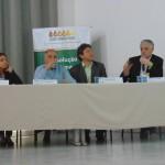 Componentes da Mesa que discutiu Crise Hídrica e Mudanças Climáticas (Fotos José Pedro Martins)
