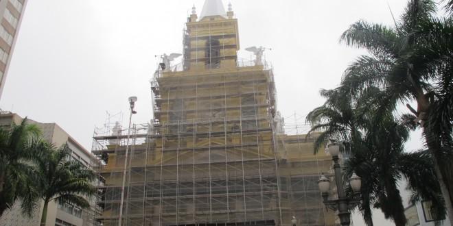 Campinas recebe restauro da fachada e torre da Catedral como símbolo da revitalização do centro