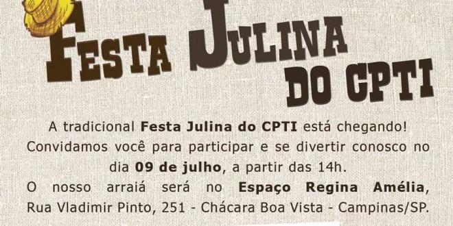 Arte e culinária na Festa Julina do CPTI nesta quinta-feira, dia 9