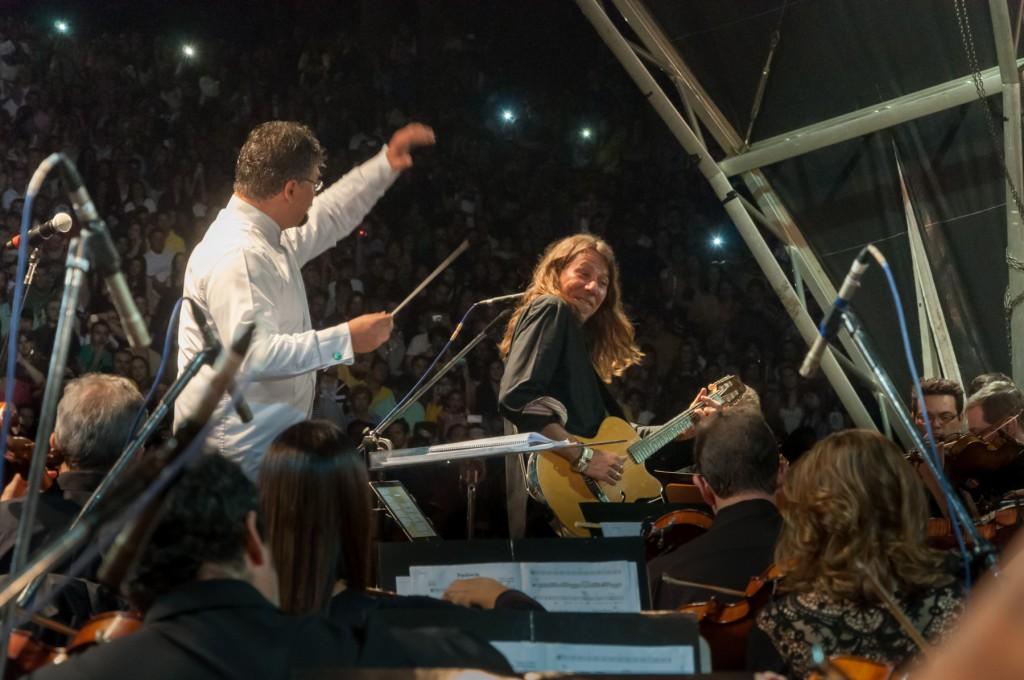 Cantor e compositor apresentou músicas de várias fases de seu repertório