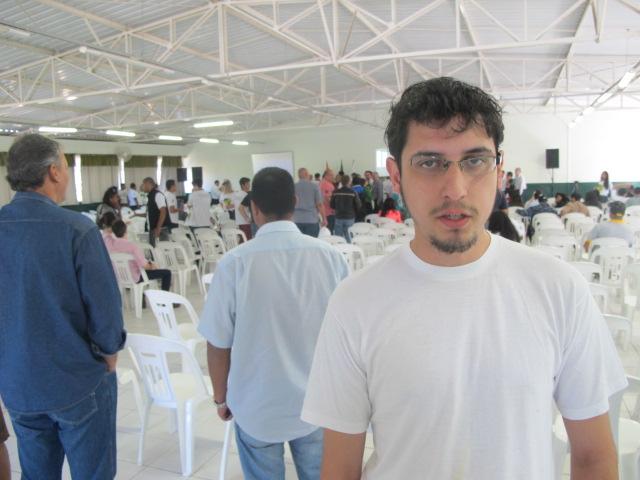"""Guilherme Rodrigues, da UJS: """"É preciso que o Conselho saia do papel e vá para a prática""""."""
