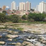 Chuva aliviou situação do rio Piracicaba, cuja vazão havia caído muito nos últimos dias (Foto José Pedro Martins)