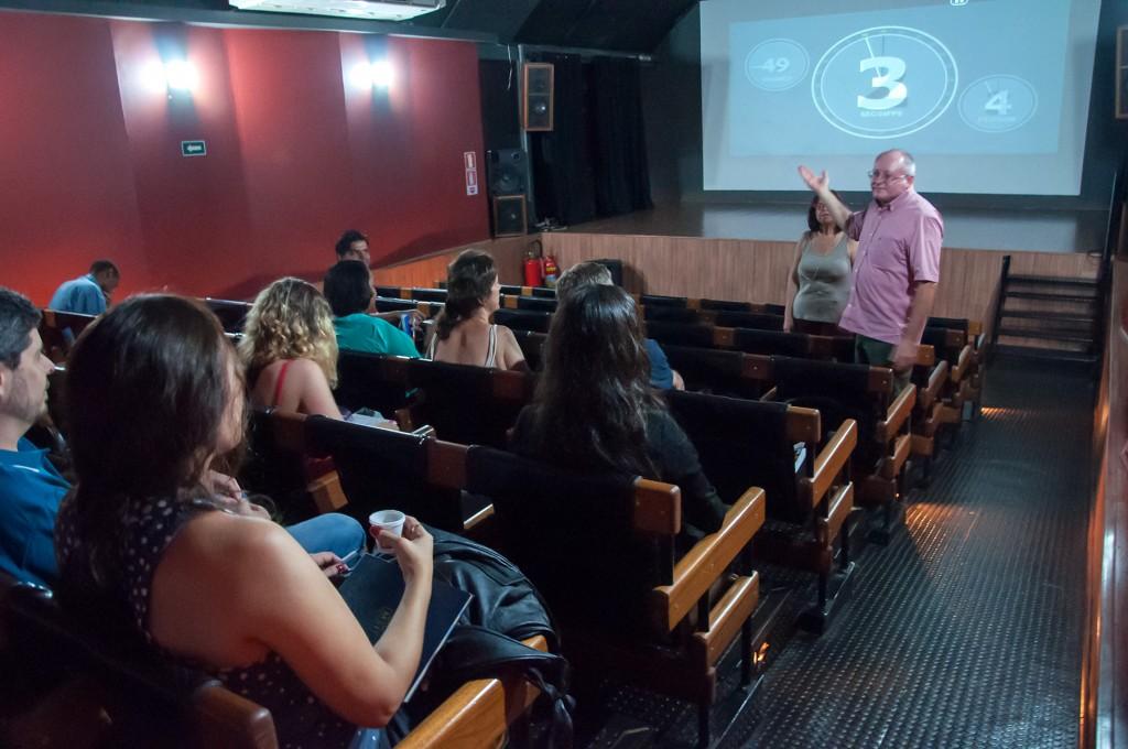 Uma das sessões prévias do longo produzido em Campinas, a terra do café
