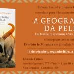 Convite do lançamento do livro