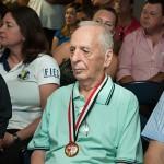 O Sr.Milton na plateia do evento de apresentação das finais dos JORI-2015 em Campinas (Fotos Martinho Caires)