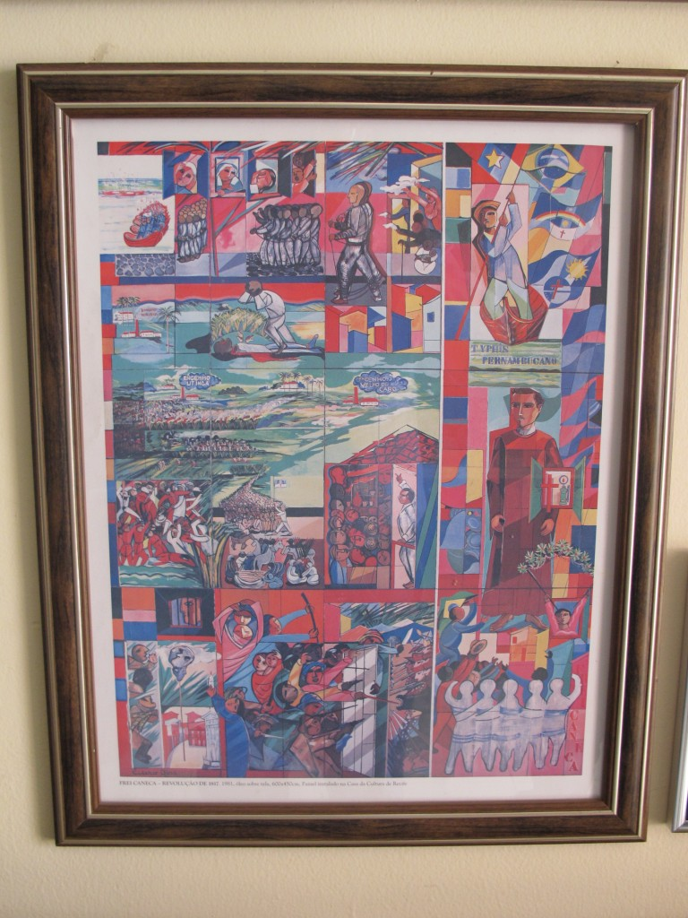 Reprodução de obra de Dias, no acervo do museu