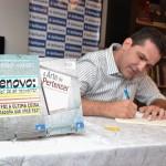 """Fernando Moraes no lançamento de """"Renovo"""" em Campinas (Fotos Divulgação)"""