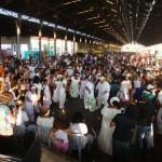 Apresentação de jongo em uma das edições da Feira Afro Mix, que sempre lotou a Estação Cultura (Foto: Divulgação)