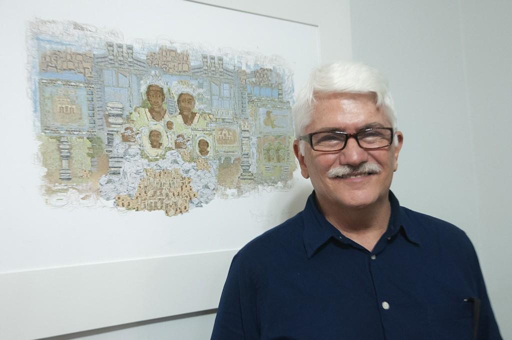 Mário Gravem Borges, idealizador da exposição (Foto Martinho Caires)