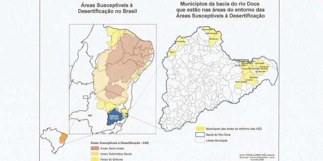 Municípios na rota da lama no Espírito Santo são vulneráveis à desertificação