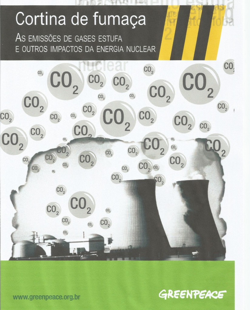 Capa do relatório produzido pela Greenpeace Brasil sobre Angra 3
