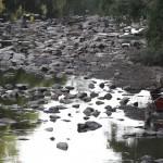Rio Atibaia em janeiro de 2015: disponibilidade de água cai ano a ano na região de Campinas