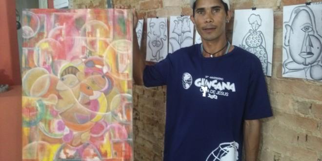 Talento artístico de Ivan Pereira é descoberto entre tijolos e cimento de uma obra