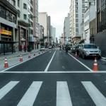 Primeiro trecho remodelado da avenida Francisco Glicério (Foto Martinho Caires)