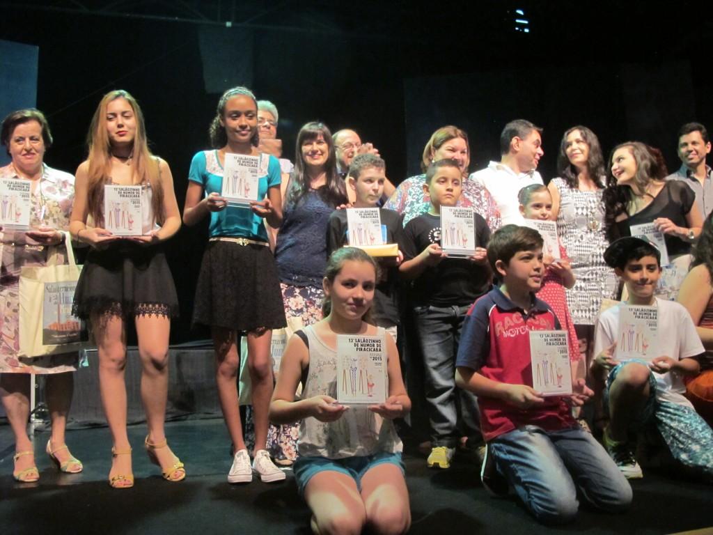 Vencedores do Salãozinho de Humor de Piracicaba de 2015 (Foto José Pedro Martins)