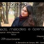 Peça de divulgação do recital da soprano Nádia Zanotello em Campinas