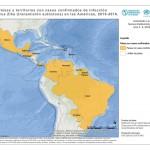 Países com casos confirmados de vírus Zika (Fonte: OPAS/OMS)