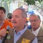 Henrique Magalhães Teixeira, Aldo Rebelo e Geraldo Alckmin no ato na Lagoa do Taquaral (Fotos Jose Pedro Martins)