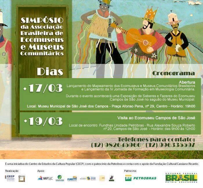 Cartaz do Simpósio da ABREMC em São José dos Campos