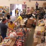 Central de doações em Itatiba recebeu muitas contribuições nas últimas horas (Foto Divulgação)