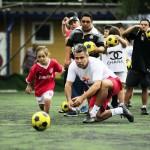 Treino para o 1º Jogo de Futebol Ponte Preta / Mano Down Campinas no Estádio Moisés Lucarelli  Foto/fonte: Evento Facebook Semana Síndrome de Down