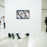 Uma das 35 fotografias de Giancarlo Giannelli, na exposição que presta tributo a Geraldo de Barros (Foto Martinho Caires)